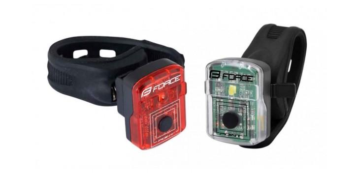 Jalgratta tulede komplekt FORCE POINT USB  FRONT+REAR