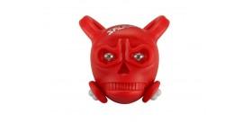 ILUMENOX Skull tagatuli 2 LED punane